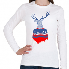 PRINTFASHION Ugly winter pulover - Női hosszú ujjú póló - Fehér
