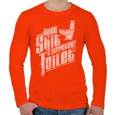 PRINTFASHION Ugyanaz a szar...  - Férfi hosszú ujjú póló - Narancs