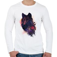 PRINTFASHION Universal wolf - Férfi hosszú ujjú póló - Fehér