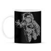 PRINTFASHION Űrhajós - Bögre - Fekete
