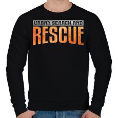 PRINTFASHION US&Rescue - Férfi pulóver - Fekete