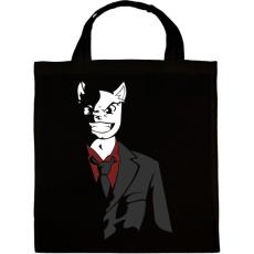 PRINTFASHION Üzlet Macska - Vászontáska - Fekete