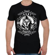 PRINTFASHION Vadász - Férfi póló - Fekete