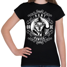 PRINTFASHION Vadász - Női póló - Fekete