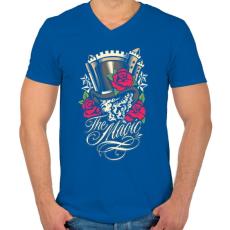 PRINTFASHION Varázslat - Férfi V-nyakú póló - Királykék