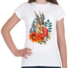PRINTFASHION Varázslatos antilop - Női póló - Fehér