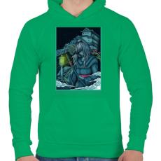 PRINTFASHION Várom a holnapot - Férfi kapucnis pulóver - Zöld