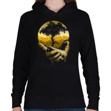 PRINTFASHION Védd a természetet - Női kapucnis pulóver - Fekete
