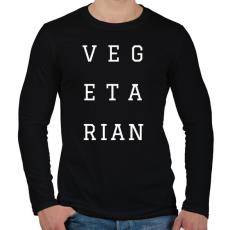 PRINTFASHION Vegetarian - Férfi hosszú ujjú póló - Fekete
