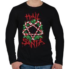 PRINTFASHION Véres karácsony - Férfi hosszú ujjú póló - Fekete