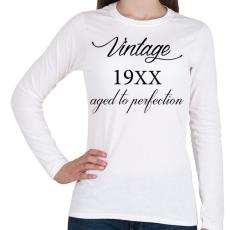 PRINTFASHION Vintage - Női hosszú ujjú póló - Fehér