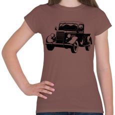 PRINTFASHION Vintage truck - Női póló - Mogyoróbarna