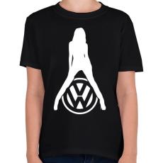 PRINTFASHION Volkswagen fan - Gyerek póló - Fekete