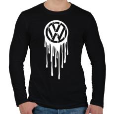 PRINTFASHION VolksWagen Fehér - Férfi hosszú ujjú póló - Fekete