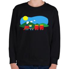 PRINTFASHION Vonat - Gyerek pulóver - Fekete