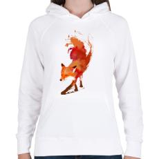 PRINTFASHION Vulpes vulpes - Női kapucnis pulóver - Fehér