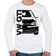 PRINTFASHION VW GTI - Férfi hosszú ujjú póló - Fehér