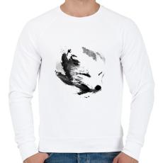 PRINTFASHION White fox - Férfi pulóver - Fehér