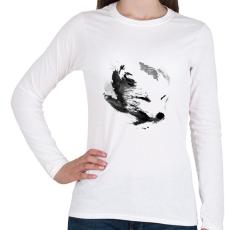 PRINTFASHION White fox - Női hosszú ujjú póló - Fehér