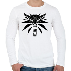 PRINTFASHION Witcher Logo - Férfi hosszú ujjú póló - Fehér