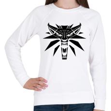 PRINTFASHION Witcher Logo - Női pulóver - Fehér