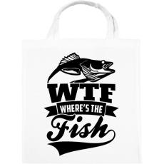 PRINTFASHION WTF horgász - Vászontáska - Fehér