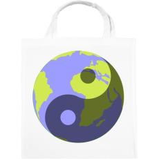 PRINTFASHION Yin-Yang bolygó - Vászontáska - Fehér