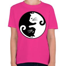 PRINTFASHION yin yang cicák - Gyerek póló - Helikónia