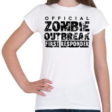 PRINTFASHION Zombi apokalipszis - Női póló - Fehér