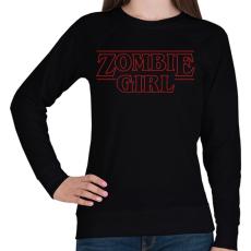 PRINTFASHION Zombi lány - Női pulóver - Fekete