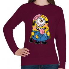 PRINTFASHION Zombi minion - Női pulóver - Bordó