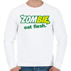 PRINTFASHION Zombi szendvics - Férfi pulóver - Fehér