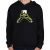 PRINTFASHION Zombie és a telefon - Gyerek kapucnis pulóver - Fekete