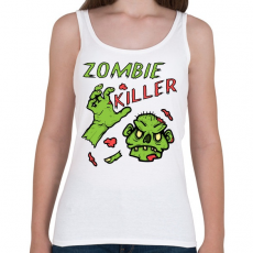 PRINTFASHION Zombie Killer - Női atléta - Fehér
