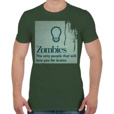 PRINTFASHION Zombies - Férfi póló - Katonazöld