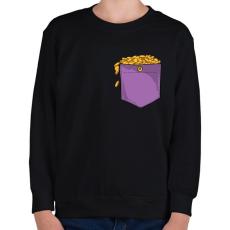 PRINTFASHION ZSEB-Aranyérmék - Gyerek pulóver - Fekete