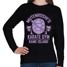 PRINTFASHION Zseniális teknős karate suli - Női pulóver - Fekete