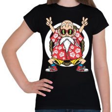 PRINTFASHION Zseniális teknős - Női póló - Fekete