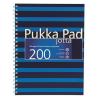 """Pukka pad Spirálfüzet, A4+, kockás, 100 lap, PUKKA PAD, """"Navy Jotta"""", kék"""