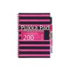 Pukka pad Spirálfüzet, A4, kockás, 100 lap, PUKKA PAD,  Navy project book , rózsaszín