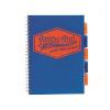 """Pukka pad Spirálfüzet, A4, kockás, 100 lap, PUKKA PAD """"Project book Neon"""", kék"""