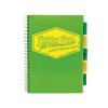 """Pukka pad Spirálfüzet, A4, vonalas, 100 lap, PUKKA PAD """"Project book Neon"""", zöld"""