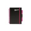 """Pukka pad Spirálfüzet, A5, vonalas, 100 lap, PUKKA PAD, """"Neon black project book"""""""