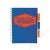 Pukka pad Spirálfüzet, A5, vonalas, 100 lap, PUKKA PAD Project book  Neon, kék (PUPB7146V)