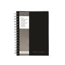 "Pukka pad Spirálfüzet, A5, vonalas, 80 lap, PUKKA PAD ""Black Range"", fekete füzet"