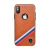 Puloka Criss-cross prémium hátlaptok Apple iPhone X, barna