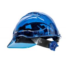 PV64 - Peak View Plus gyorsbeállítós, átlátszó védősisak - kék