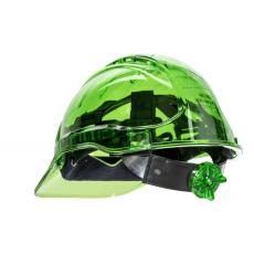 PV64 - Peak View Plus gyorsbeállítós, átlátszó védősisak - zöld