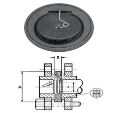 PVC rugós torlócsappantyú D160, DN150 hűtés, fűtés szerelvény