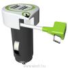 Q2 POWER 3.100130 autóstöltő, 2 x USB-A anya, 1 x USB-C apa